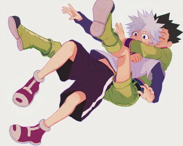 Tags: Anime, Skullcaps, Hunter x Hunter, Gon Freaks, Killua Zoldyck, Pounce, Fanart