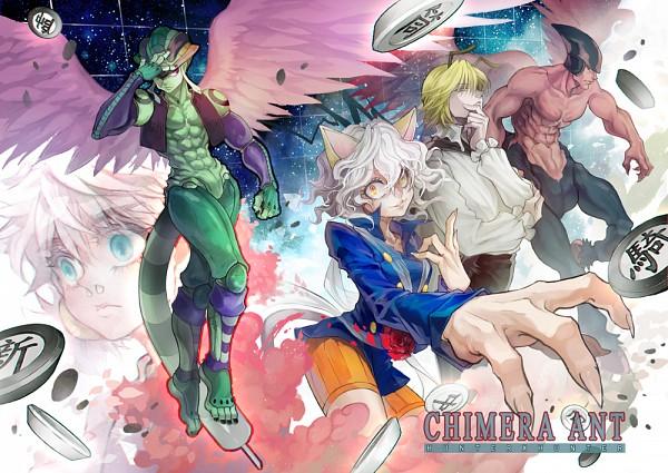 Tags: Anime, Pixiv Id 3622118, Hunter x Hunter, Meruem, Shaiapouf, Komugi (Hunter x Hunter), Neferpitou, Menthuthuyoupi, Chimera Ants, Royal Guards (Hunter x Hunter)