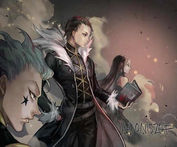 Tags: Anime, Pixiv Id 3622118, Hunter x Hunter, Hisoka, Illumi Zoldyk, Chrollo Lucilfer, Pixiv, Fanart From Pixiv, Fanart