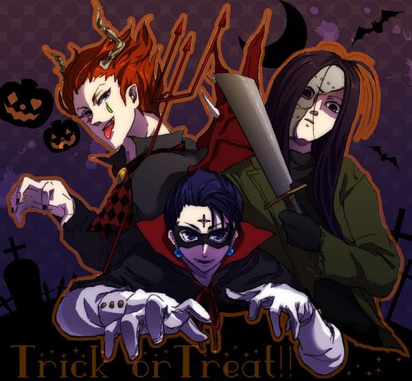 Tags: Anime, Rvn318, Hunter x Hunter, Hisoka, Illumi Zoldyk, Chrollo Lucilfer, Pixiv, Fanart, Phantom Troupe, Hisoillumi