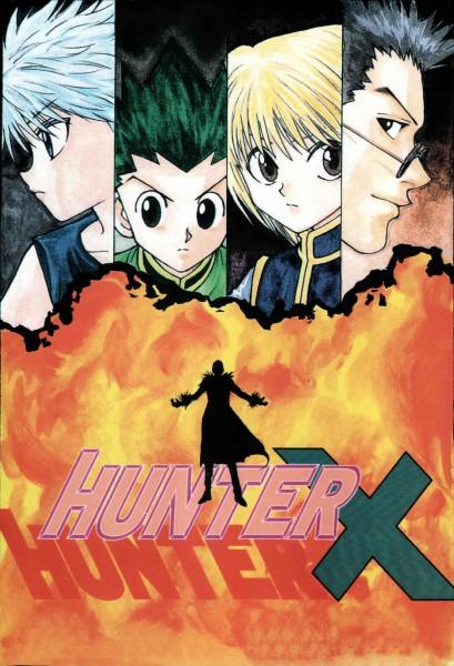 Tags: Anime, Togashi Yoshihiro, Hunter x Hunter, Killua Zoldyck, Chrollo Lucifer, Leorio Paladiknight, Gon Freaks, Kurapika, Manga Cover, Scan, Official Art