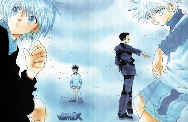 Tags: Anime, Togashi Yoshihiro, Hunter x Hunter, Gon Freaks, Kurapika, Killua Zoldyck, Leorio Paladiknight, Official Art