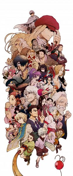Tags: Anime, Shoko Makiko, Hunter x Hunter, Mito Freaks, Satotz, Kite (Hunter x Hunter), Wing (Hunter x Hunter), Gon Freaks, Melody (Hunter x Hunter), Kikyo Zoldyck, Nobunaga Hazama, Ging Freaks, Chrollo Lucifer