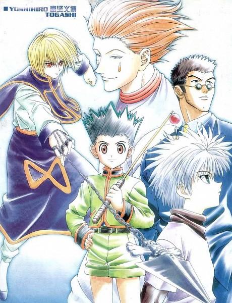 Tags: Anime, Togashi Yoshihiro, Hunter x Hunter, Gon Freaks, Kurapika, Killua Zoldyck, Hisoka, Leorio Paladiknight, Official Art