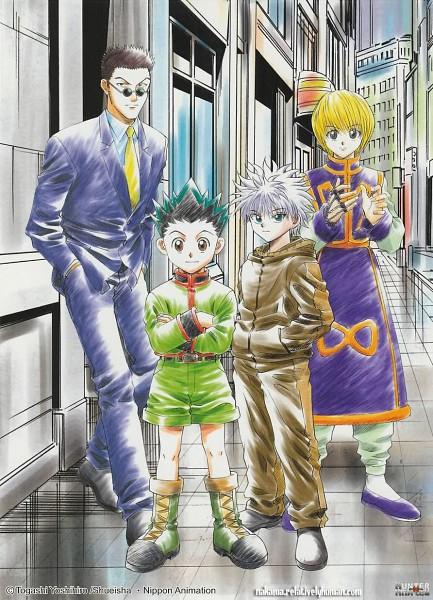Tags: Anime, Togashi Yoshihiro, Hunter x Hunter, Killua Zoldyck, Leorio Paladiknight, Gon Freaks, Kurapika, Official Art, Mobile Wallpaper