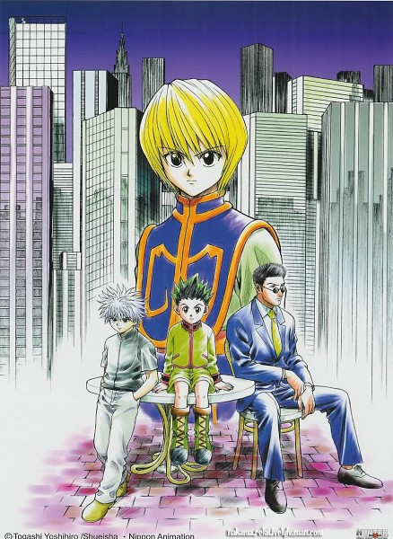Tags: Anime, Togashi Yoshihiro, Hunter x Hunter, Kurapika, Killua Zoldyck, Leorio Paladiknight, Gon Freaks, Official Art