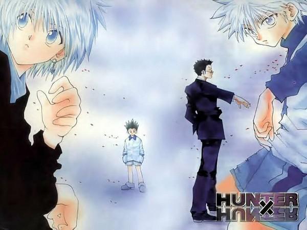 Tags: Anime, Togashi Yoshihiro, Hunter x Hunter, Leorio Paladiknight, Gon Freaks, Kurapika, Killua Zoldyck, Wallpaper