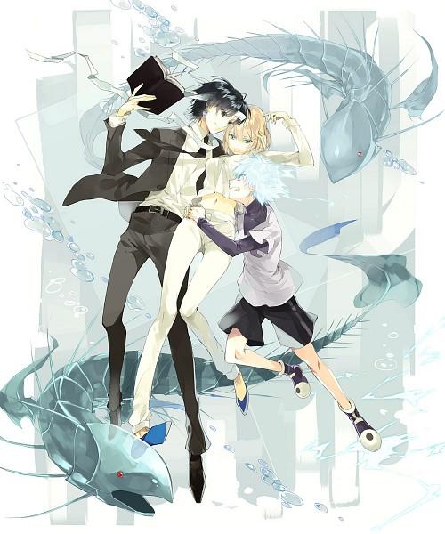 Tags: Anime, Hs (Pixiv 2934068), Hunter x Hunter, Chrollo Lucifer, Kurapika (Female), Killua Zoldyck, Pixiv, Fanart From Pixiv, Fanart