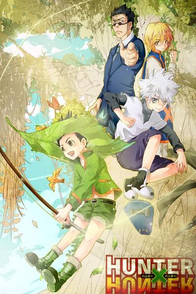 Tags: Anime, Fredericagreenhill, Hunter x Hunter, Kurapika, Killua Zoldyck, Leorio Paladiknight, Gon Freaks, Fanart, Mobile Wallpaper