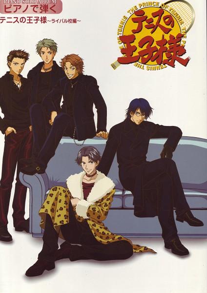 Tags: Anime, Tennis no Ouji-sama, Akutagawa Jiro, Shishido Ryou, Ootori Choutarou, Oshitari Yuushi, Atobe Keigo, Official Art, Hyotei Academy