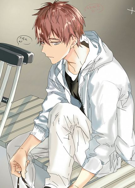 Tags: Anime, Pixiv Id 27056372, Ballroom e Youkoso, Hyoudou Kiyoharu, Crutches, Pixiv, Fanart, Fanart From Pixiv, Colorization