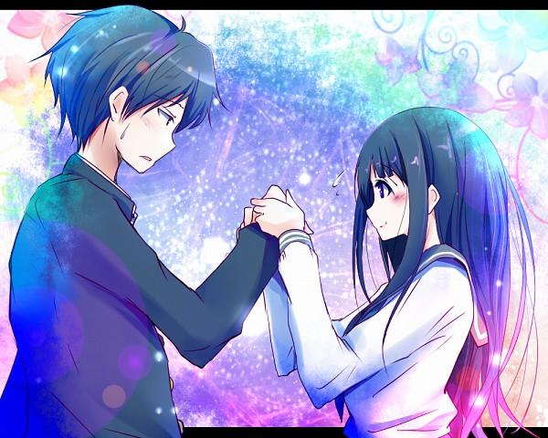 Tags: Anime, Natsu, Hyouka, Oreki Houtarou, Chitanda Eru