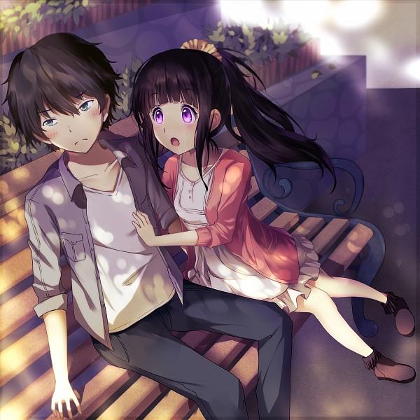 Tags: Anime, Bisonbison, Hyouka, Houtarou Hyouka, Oreki Houtarou, Chitanda Eru