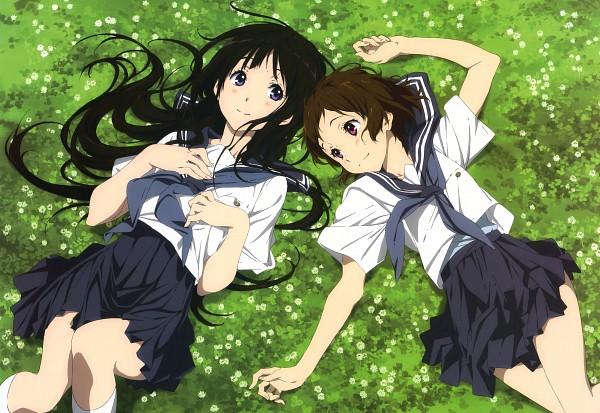 Tags: Anime, Kyoto Animation, Hyouka, Ibara Mayaka, Chitanda Eru, Official Art, Scan