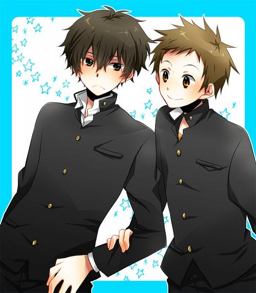 Tags: Anime, Pixiv Id 2783659, Hyouka, Fukube Satoshi, Oreki Houtarou