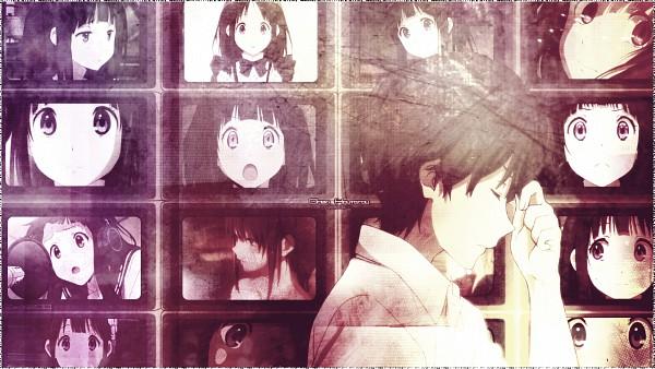 Tags: Anime, Hyouka, Oreki Houtarou, Chitanda Eru, Eyes Half Closed, Facebook Cover, Wallpaper