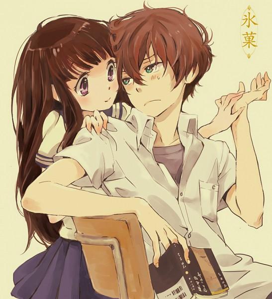 Tags: Anime, Lenny-tree, Hyouka, Oreki Houtarou, Chitanda Eru, Barcode
