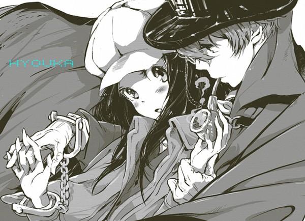Tags: Anime, Lenny-tree, Hyouka, Oreki Houtarou, Chitanda Eru, Kimi ni Matsuwaru Mystery, Fanart, Tumblr