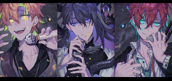 Tags: Anime, Pixiv Id 1386724, Hypnosis Mic -Division Rap Battle-, Kannonzaka Doppo, Jinguuji Jakurai, Izanami Hifumi, Unusual Colored Blood, Panther, Bags Under Eyes, Reptile, Fanart, Fanart From Pixiv, Pixiv