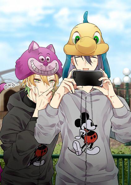 Tags: Anime, Pixiv Id 10436378, Alice in Wonderland, Hypnosis Mic -Division Rap Battle-, Little Mermaid (Disney), Cheshire Cat, Jinguuji Jakurai, Izanami Hifumi, Flounder, Cheshire Cat (Cosplay), Flounder (Cosplay), Disneyland