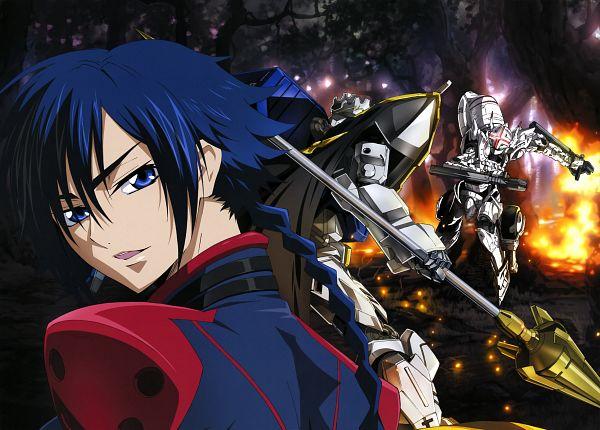 Tags: Anime, Sunrise (Studio), Code Geass: Boukoku no Akito, Hyuuga Akito, Scan, Official Art