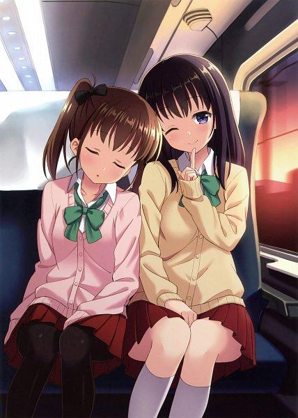 Tags: Anime, Hyuuga Azuri, Himekuri 365 - 2017 Edition, Train Interior, Original, Scan