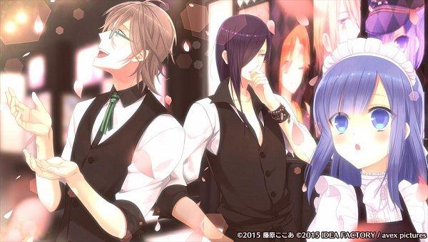 Tags: Anime, Fujiwara Cocoa, Avex Pictures Inc., Otomate, IDEA FACTORY, I DOLL U, Amane Aika, Kakesaki Itsuki, Kuroyume Tsubasa, Official Art, CG Art