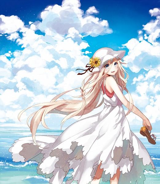 Tags: Anime, Yuzuki Kihiro, VOCALOID, IA, Footwear Off, Waves, Pixiv, Fanart From Pixiv, PNG Conversion, Fanart