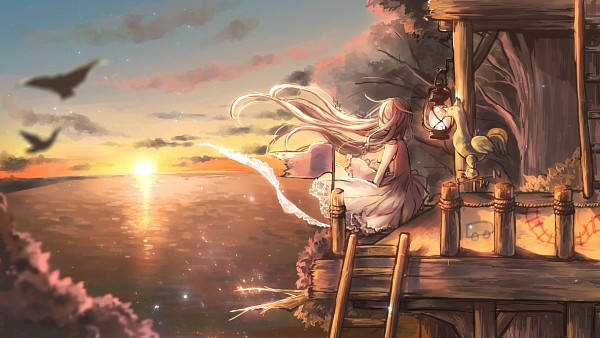 Tags: Anime, Pixiv Id 258019, VOCALOID, IA, Ladder, Weather Vane, Fanart From Pixiv, Fanart, Facebook Cover, Pixiv, Wallpaper