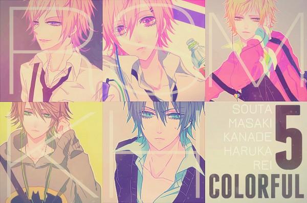 Tags: Anime, IBUKI (Carol), COLORFUL5, Takanashi Haruka, Tutiya Masaki, Sasaki Souta, Ijuin Rei, Hinohara Kanade, Water Bottle, Helix Piercing, Original
