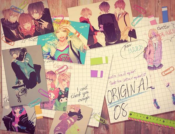 Tags: Anime, IBUKI (Carol), Sanrio, Onegai My Melody, Kuromi (My Melody), My Melody, Paper Clip, Pixiv, Original