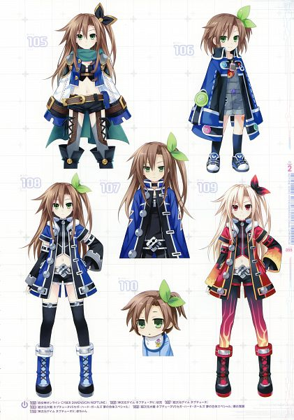 Tags: Anime, Tsunako, Neptune Series Hyperdimension Visual Chronicle, Choujigen Game Neptune, Chou Megami Shinkou Noire Gekishin Black Heart, Kami Jigen Game Neptune V, Four Goddesses Online: Cyber Dimension Neptune, IF (Choujigen Game Neptune), Scan, Official Art