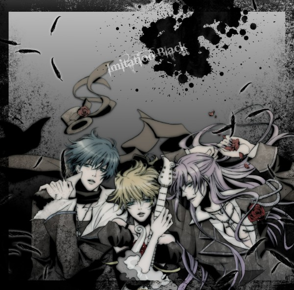 Tags: Anime, VOCALOID, Kagamine Len, Kamui Gakupo, KAITO, Artist Request, IMITATION BLACK, VanaN'Ice