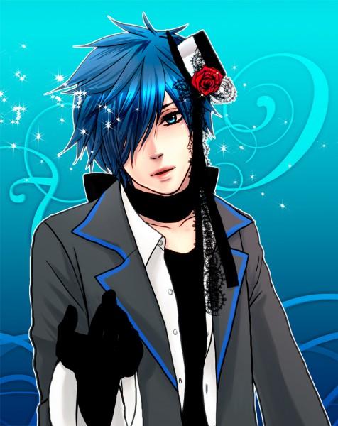 Tags: Anime, Pixiv Id 272072, VOCALOID, KAITO, IMITATION BLACK