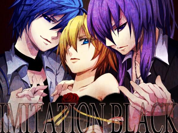 Tags: Anime, Kaden, VOCALOID, Kagamine Len, Kamui Gakupo, KAITO, IMITATION BLACK, Wallpaper, Pixiv, VanaN'Ice