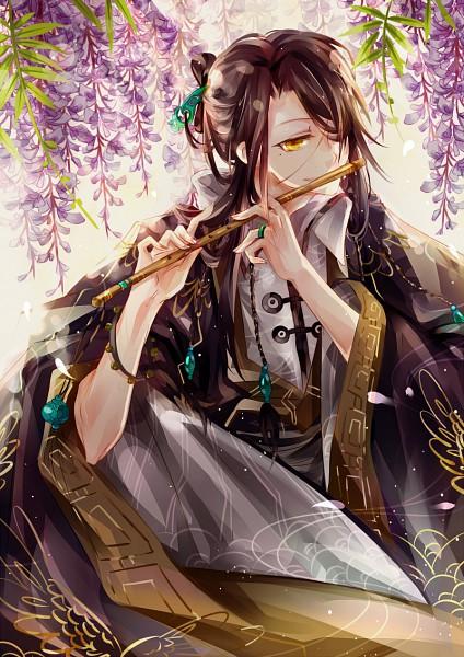 Tags: Anime, INstockee, Wisteria, Flute, Mobile Wallpaper, PNG Conversion, Pixiv, Original