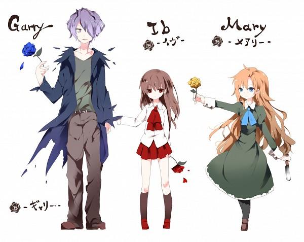 Tags: Anime, KOTATU, Ib, Mary (Ib), Ib (Character), Garry, Fanart, Fanart From Pixiv, PNG Conversion, Pixiv