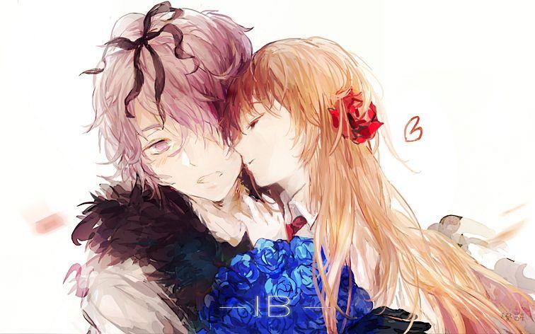 Tags: Anime, Moemoe3345, Ib, Ib (Character), Garry, Pixiv, Fanart, Fanart From Pixiv