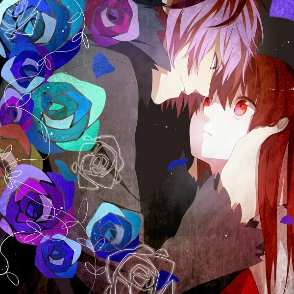 Tags: Anime, Onuko (Pixiv1861313), Ib, Ib (Character), Garry, Whisper, Fanart From Pixiv, PNG Conversion, Pixiv, Fanart
