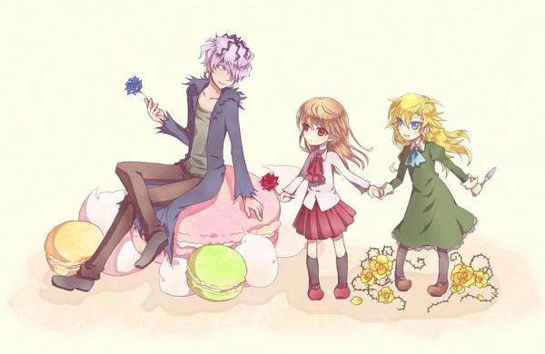 Tags: Anime, Pixiv Id 288487, Ib, Mary (Ib), Ib (Character), Garry, Pixiv, Fanart, Fanart From Pixiv