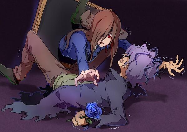 Tags: Anime, Rinkai (Pixiv1664083), Ib, Lady in Blue, Garry, Trembling, Fanart From Pixiv, Pixiv, Fanart