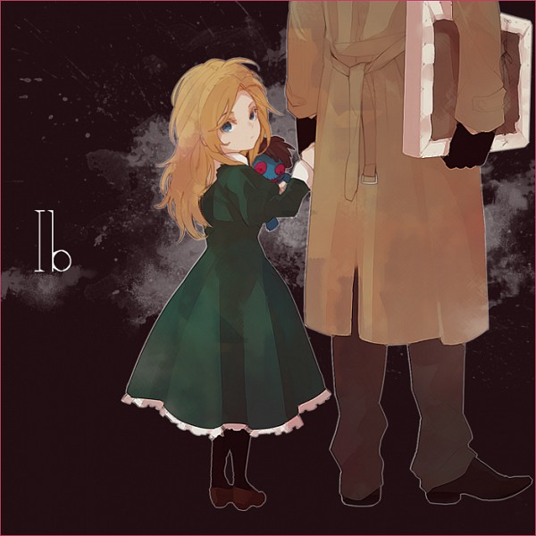 Tags: Anime, Zakka, Ib, Blue Doll, Mary (Ib), Guertena Weiss, Painting (Object), Pixiv