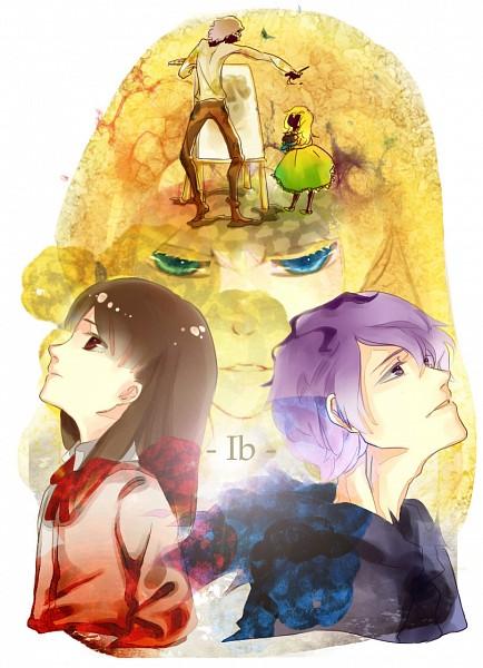 Tags: Anime, Tenra, Ib, Mary (Ib), Ib (Character), Garry, Guertena Weiss, Fanart From Pixiv, Pixiv, Fanart, Mobile Wallpaper