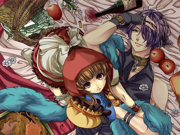 Tags: Anime, Tyomeko2525, Ib, Mary (Ib), Ib (Character), Garry, Big Bad Wolf (Cosplay), Red Riding Hood (Cosplay), Pixiv, Fanart