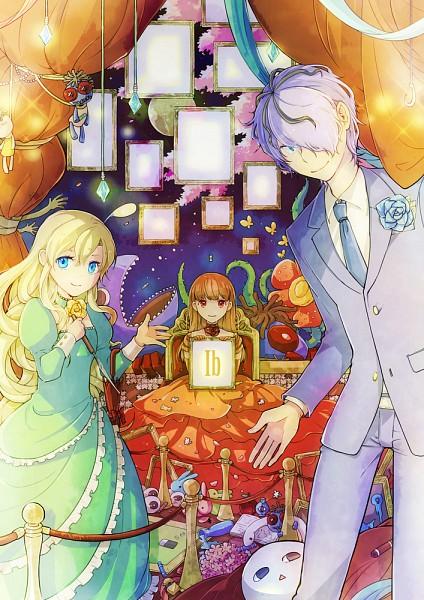 Tags: Anime, Umu, Ib, Blue Doll, Mary (Ib), Ib (Character), Garry, Detailed, Mobile Wallpaper, Fanart