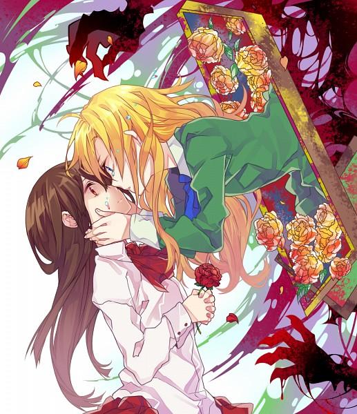 Tags: Anime, Curryuku, Ib, Mary (Ib), Ib (Character), Wide Eyes, Painting (Object), Fanart From DeviantART, Fanart, Revision, deviantART