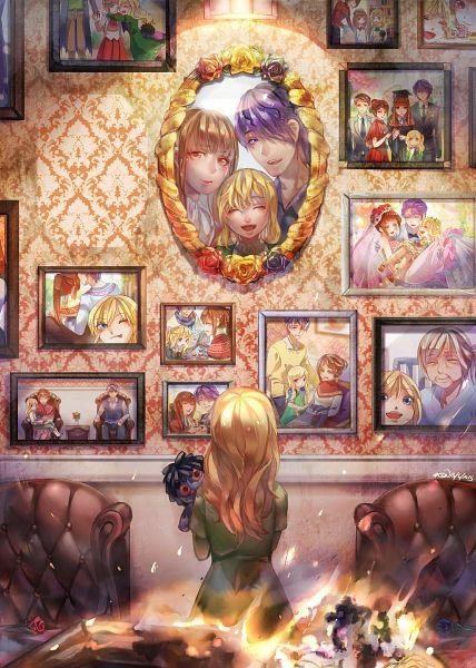 Tags: Anime, Clivef, Ib, Ib (Character), Garry, Mary (Ib), Age Progression, Graduation