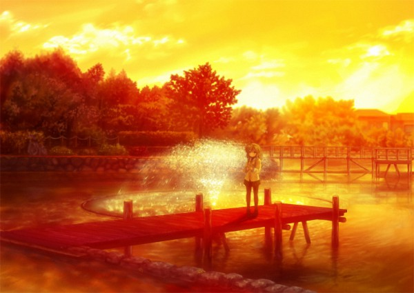 Tags: Anime, KEY (Studio), CLANNAD, Ibuki Fuko, Fountain, Dock