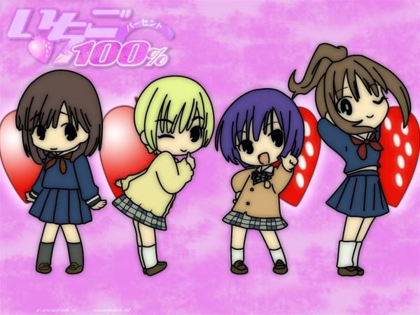 Tags: Anime, Kawashita Mizuki, Ichigo 100%, Minamito Yui, Kitaoji Satsuki, Nishino Tsukasa, Toujou Aya