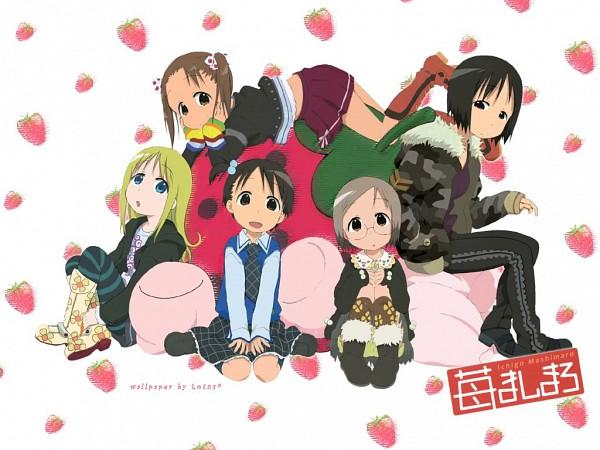 Tags: Anime, Ichigo Mashimaro, Matsuoka Miu, Itoh Nobue, Sakuragi Matsuri, Itoh Chika, Ana Coppola, Edited, Wallpaper, Fanmade Wallpaper, Artist Request, Strawberry Marshmallow